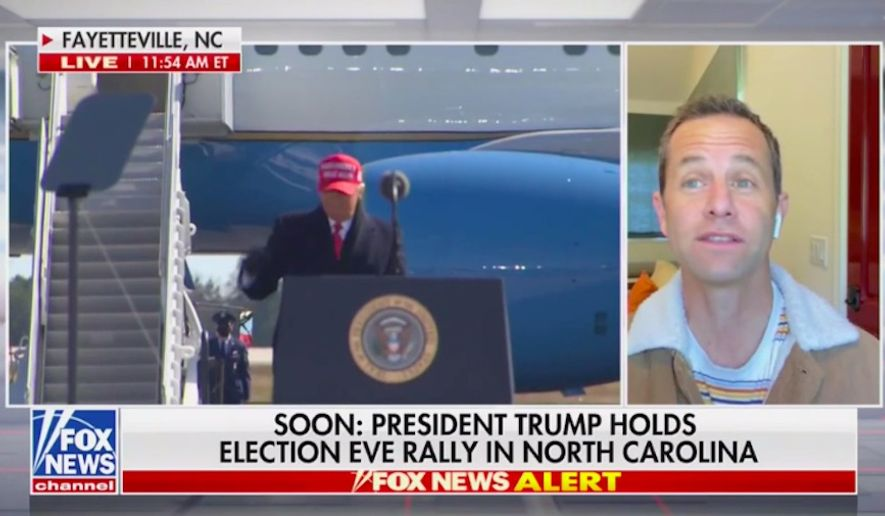 "Christian actor and filmmaker Kirk Cameron said Monday that Christians are mobilizing in support of President Trump because they are finally ""waking up"" to the socialist threat America faces. (Screenshot via Fox News)"