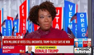 """MSNBC host Joy Reid denigrated Supreme Court Justice Clarence Thomas as """"Uncle Clarence"""" early Wednesday. (Screenshot via MSNBC)"""