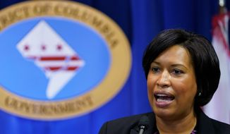 D.C. Mayor Muriel Bowser will issue an updated travel advisory that will require visitors to get tested 72 hours before traveling to the city. (Associated Press) ** FILE **