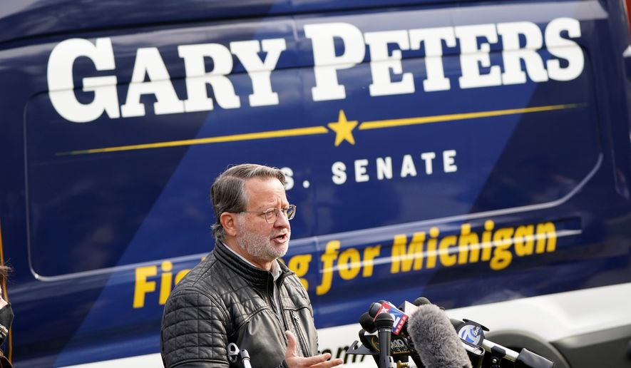 """""""It's sad and it's pathetic. They lost, it's very clear,"""" Sen. Gary Peters, Michigan Democrat, said about his challenger."""