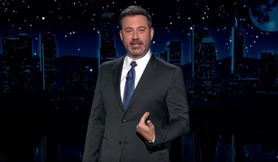 "ABC's Jimmy Kimmel discusses the 2020 presidential election, Nov. 4, 2020. (Image: ""Jimmy Kimmel Live"" video screenshot)"