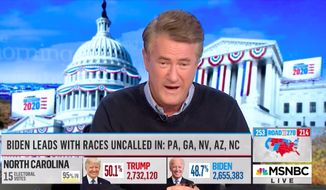 """MSNBC host Joe Scarborough opened """"Morning Joe"""" Thursday morning by ranting against President Trump-supporting evangelicals who have a false sense of """"victimhood"""" and persecution. (Screenshot via MSNBC)"""