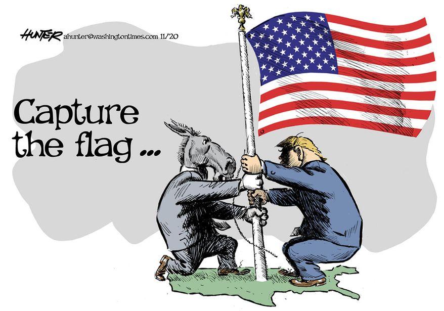 Illustration by Alexander Hunter for The Washington Times (published November 9, 2020)