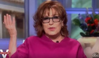 "Comedian Joy Behar discusses the 2020 presidential election, Nov. 9, 2020. (Image: ABC, ""The View"" video screenshot)"