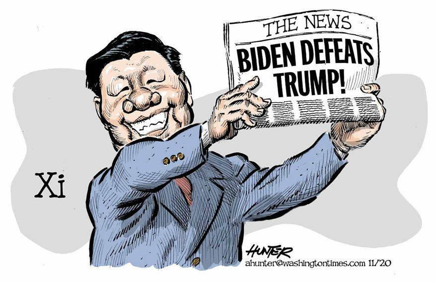 Illustration by Alexander Hunter for The Washington Times (published November 10, 2020)