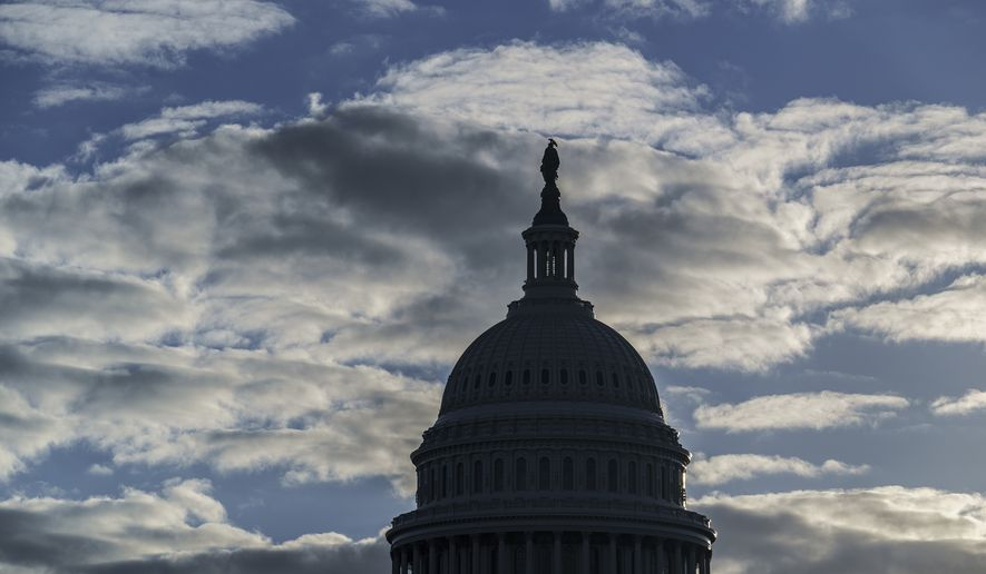The Capitol is seen in Washington, early Tuesday, Nov. 10, 2020. (AP Photo/J. Scott Applewhite)