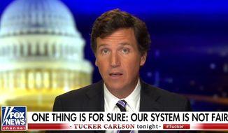Fox News' Tucker Carlson discusses the 2020 presidential election on Nov. 9, 2020. (Image: Fox News video screenshot)  ** FILE **