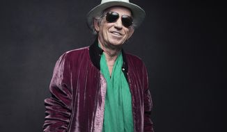 FILE - In this Nov. 14, 2016 file photo, Keith Richards of the Rolling Stones poses for a portrait in New York. On Friday, Richards is releasing a limited edition box set of his 1988 concert at the Hollywood Palladium taken during his first solo tour. (Photo by Victoria Will/Invision/AP, File)