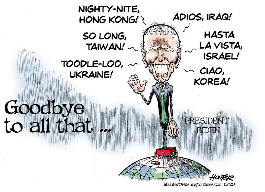 Illustration by Alexander Hunter for The Washington Times (published November 12, 2020)