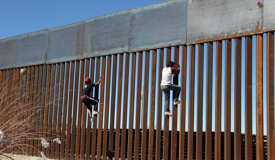 A section of the U.S. border wall, Ciudad Juarez, 2017    Associated Press photo