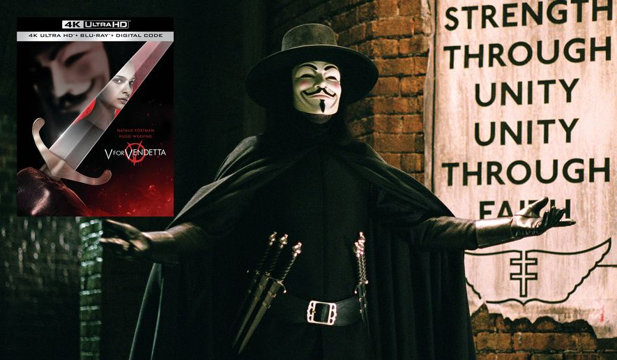 """The anarchist V from """"V for Vendetta,"""" now available on 4K Ultra HD from Warner Bros. Home Entertainment."""