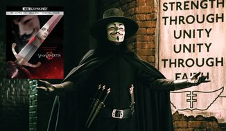 "The anarchist V from ""V for Vendetta,"" now available on 4K Ultra HD from Warner Bros. Home Entertainment."