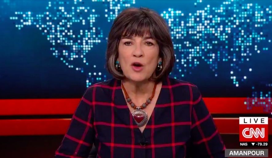 CNN Chief International Anchor Christiane Amanpour is facing a wave of backlash after she compared Donald Trump's presidency to the Nazis' 1938 Kristallnacht against German Jews that marked the beginning of the Holocaust. (Screenshot via CNN)