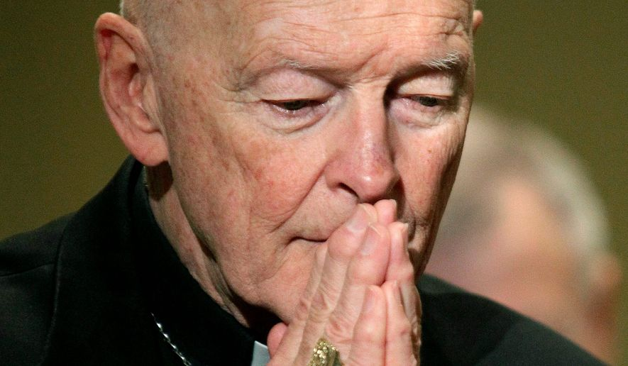 The Vatican's report on former Cardinal Theodore E. McCarrick took center stage at the U.S. Conference of Catholic Bishops. The report faulted church hierarchy for enabling him to rise while looking past his actions. (ASSOCIATED PRESS)