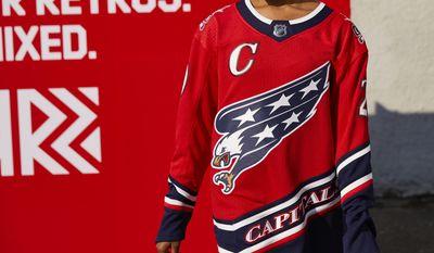 "The Washington Capitals unveiled its new Adidas ""Reverse Retro"" jersey Monday, Nov. 16, 2020. (Courtesy of Washington Capitals)"