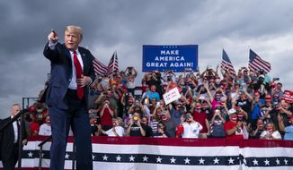 """President Trump's approval ratings have """"ticked up"""" to 50% post-election, according to a Hill-HarrisX Daily Poll released Wednesday. (Associated Press)"""