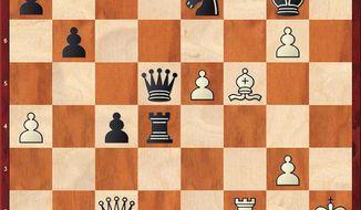 """Harmon""-""Beltik"" after 37...Qg8-d5."