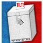 Illustration on protecting the validity of the vote by Alexander Hunter/The Washington Times