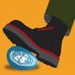 Illustration on assaults on the world order by Linas Garsys/The Washington Times