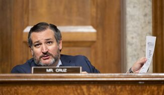 Sen. Ted Cruz, R-Texas, speaks during the Senate Judiciary Committee hearing on Facebook and Twitter's actions around the closely contested election, Tuesday, Nov. 17, 2020 on Capitol Hill in Washington. (Photo By Bill Clark/CQ Roll Call)
