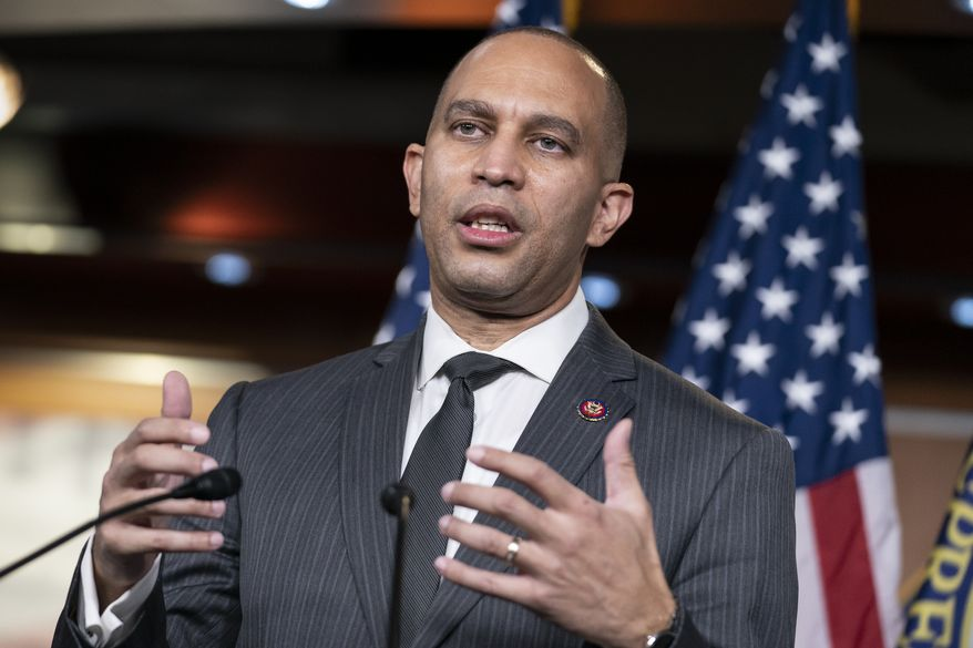 House Democratic Caucus Chair Hakeem Jeffries, D-N.Y., talks to reporters at the Capitol in Washington, Tuesday, Nov. 17, 2020. (AP Photo/J. Scott Applewhite)
