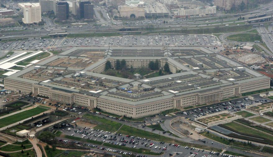 "This March 27, 2008 file photo shows the Pentagon in Washington. A new report by the conservative Heritage Foundation found U.S. military readiness for major conflict only ""marginal,"" warning that the Pentagon was falling behind as adversaries China and Russia continue to improve their military capabilities. (AP Photo/Charles Dharapak, File)  *FILE**"