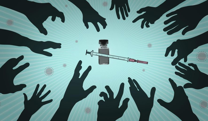 Who will be the first to get COVID-19 vaccines? AP Illustration/Peter Hamlin