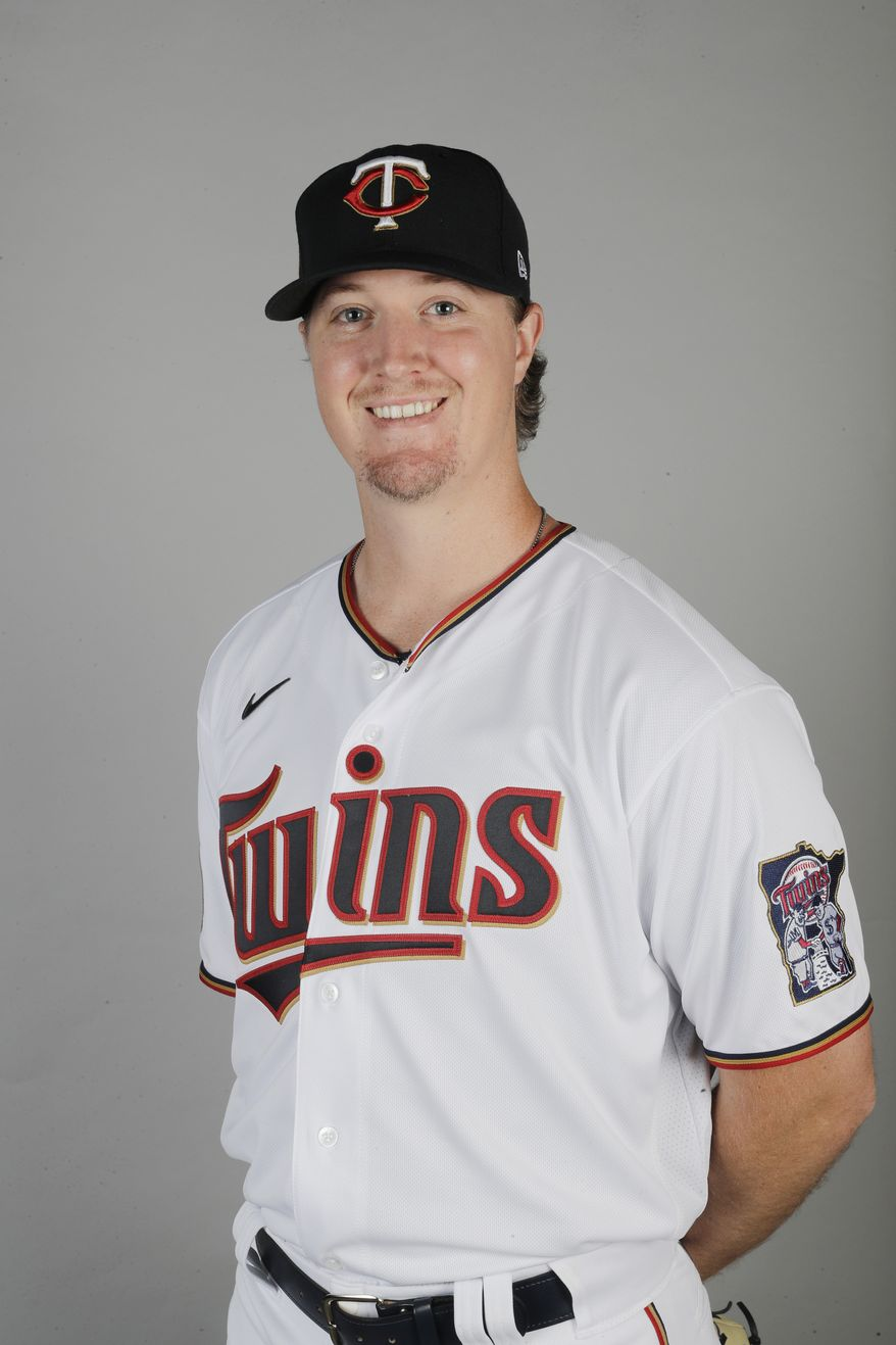 This is a 2020 photo of Sam Clay of the Minnesota Twins baseball team. This image reflects the Twins 2020 active roster as of Thursday, Feb. 20, 2020, when this image was taken. (AP Photo/Brynn Anderson)  **FILE**