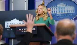 White House press secretary Kayleigh McEnany speaks during a briefing at the White House in Washington, Friday, Nov. 20, 2020. (AP Photo/Susan Walsh)
