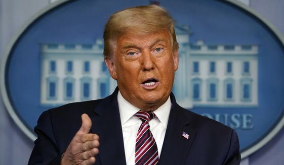 In this Nov. 5, 2020 file photo, President Donald Trump speaks at the White House in Washington.  (AP Photo/Evan Vucci, File)  **FILE**
