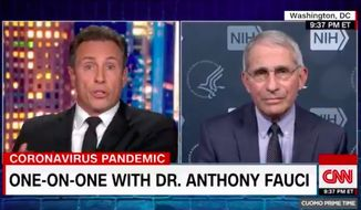 "CNN's Chris Cuomo on Thursday, Nov. 19, 2020, slammed the closures of New York City schools amid the uptick in coronavirus cases, saying the decision is being based on ""fear and not enough fact."" (Screenshot via CNN)"