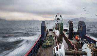 A boat in the Bering Sea. Photos courtesy of Trident Seafoods.