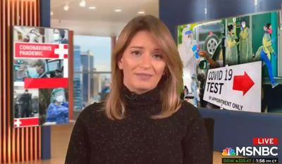 MSNBC's Katy Tur urges viewers living through the coronavirus pandemic to stay home and cook turkey and mashed potatoes for one over Thanksgiving, Nov. 23, 2020. (Image: MSNBC video screenshot)