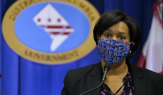 In this file photo, District of Columbia Mayor Muriel Bowser speaks during a news conference in Washington, Wednesday, Nov. 4, 2020. (AP Photo/Susan Walsh)