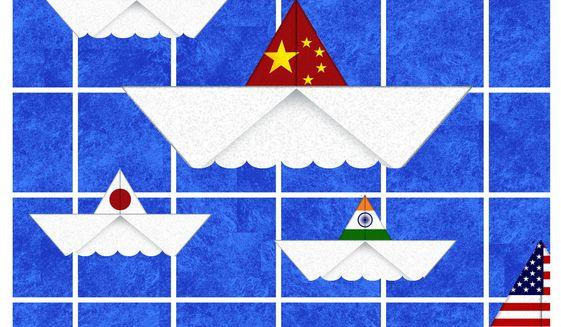 Biden China policy illustration by The Washington Times