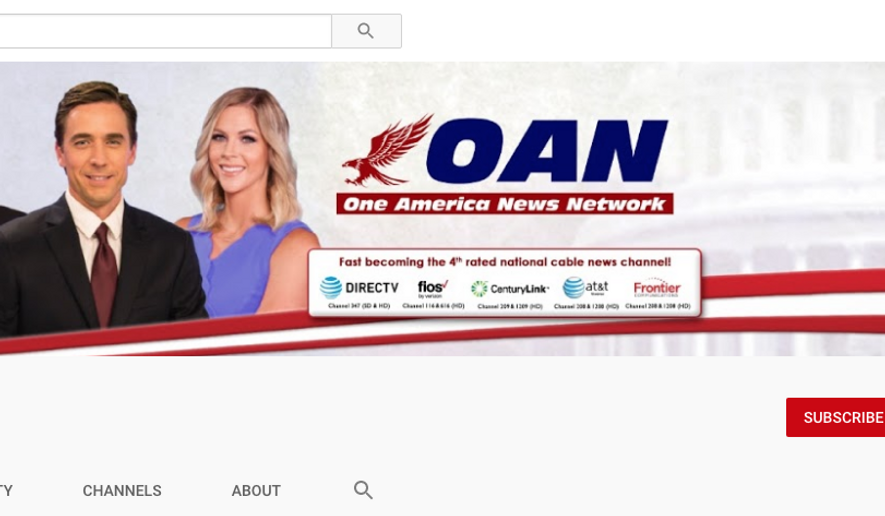 Screen capture from One America News Network's YouTube page, taken Nov. 24, 2020. (YouTube) [https://www.youtube.com/user/1americanews]