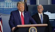 President Donald Trump speaks in the Brady Briefing Room in the White House, Tuesday, Nov. 24, 2020, in Washington as Vice President Mike Pence looks on.  (AP Photo/Susan Walsh)