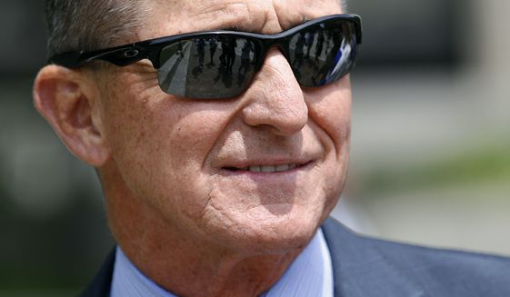 Michael Flynn, President Donald Trump's former national security adviser, departs a federal courthouse after a hearing, Monday, June 24, 2019, in Washington. (AP Photo/Patrick Semansky) ** FILE **