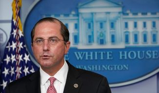 Health and Human Services Secretary Alex M. Azar II said the CDC is wording on a public-service campaign about the vaccine's safety. (Associated Press)