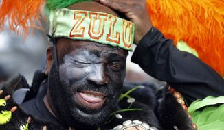 Members of Zulu, as well as other New Orleans krewes, will not be celebrating Mardi Gras with their traditional parade. (Associated Press photograph)