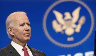 A conservative press watchdog wonders why major networks barely covered presumed President-elect Joseph R. Biden's recent injury. (Associated Press)
