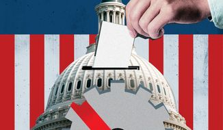 Voter fraud  illustration by The Washington Times