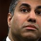 Federal Communications Commission Chairman Ajit Pai says he is leaving the telecommunications regulator on Inauguration Day. President Trump has nominated Nathan Simington to the FCC. (Associated Press)