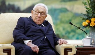 Former Secretary of State Henry Kissinger is one of the 10 members of the Pentagon's Defense Policy Board who will be replaced. He was one of the pro-China holdovers from the Obama administration. (Associated Press/File)