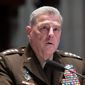 Joint Chiefs of Staff Chairman Gen. Mark A. Milley has expressed his support for changing how the military conducts investigations of sexual assault. (ASSOCIATED PRESS)  **FILE**