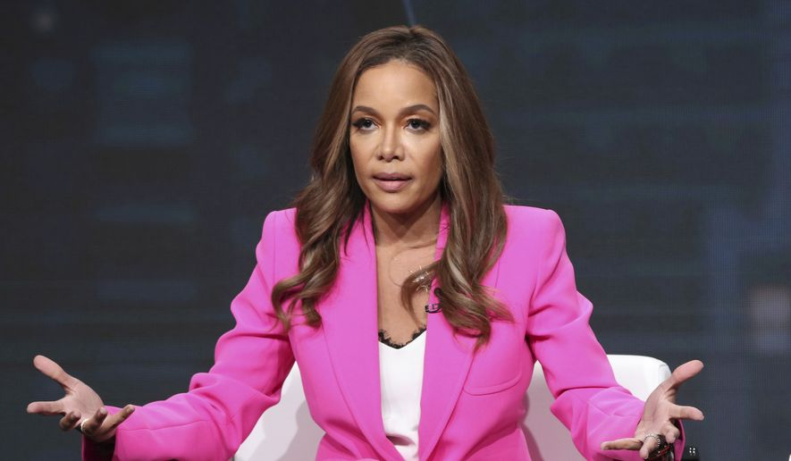 "Host/executive producer Sunny Hostin speaks in Investigation Discovery's ""Truth About Murder with Sunny Hostin"" panel at the Television Critics Association Summer Press Tour on Thursday, July 25, 2019, in Beverly Hills, Calif. (Photo by Willy Sanjuan/Invision/AP) **FILE**"