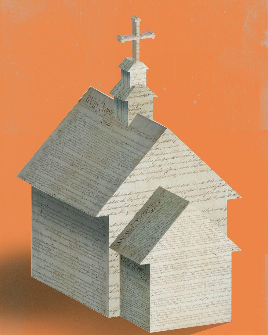 Freed of religion illustration by The Washington Times