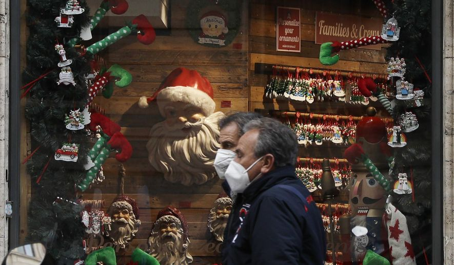 Italians told to celebrate Christmas at home to fight virus