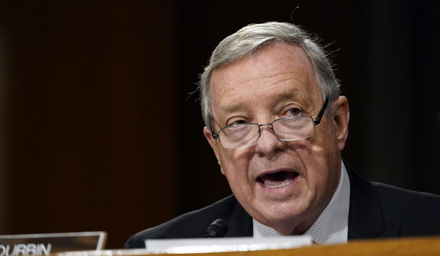 Sen. Dick Durbin, D-Ill., speaks during a Senate Judiciary Committee hearing on Capitol Hill in Washington, Tuesday, Nov. 10, 2020, in this file photo. (AP Photo/Susan Walsh, Pool)  **FILE**