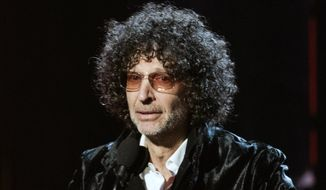 FILE - In this April 14, 2018, file photo, Howard Stern speaks at the 2018 Rock and Roll Hall of Fame Induction Ceremonies in Cleveland. Stern has reached a five-year deal with SiriusXM to continue making his show for the satellite radio company through the end of 2025, in a deal announced Tuesday, Dec. 8, 2020. Terms were not disclosed. Forbes magazine has reported that Stern was already making $90 million a year. (Photo by Michael Zorn/Invision/AP, File)